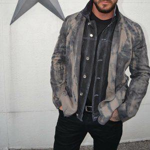 Dolce Gabbana XL blazer denim jacket 44 46 tiedyed